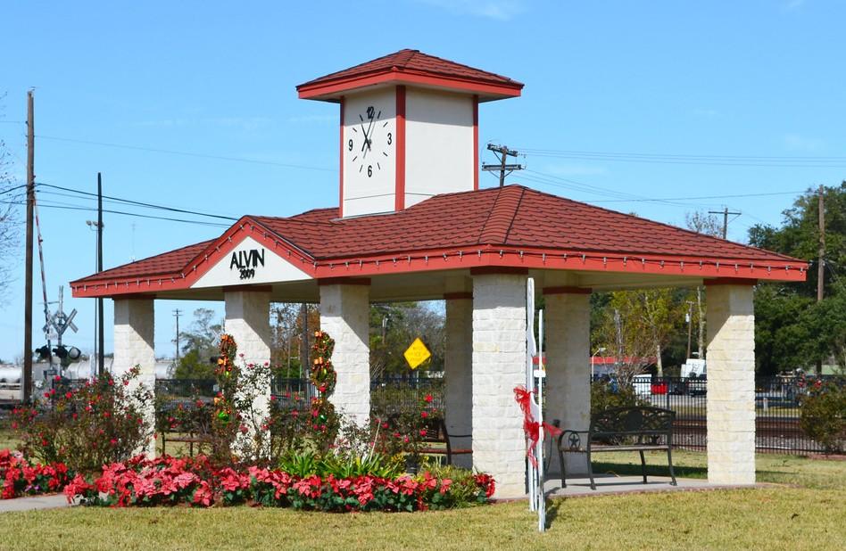 Alvin Train Depot, Alvin Train, Train Depot